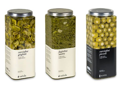 food labels that are at the bottom of the container - nice!   by Nju Comunicazione