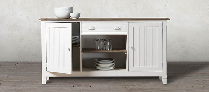 White is trending the season with the Montego Sideboard. #SHF #party #dinner #furniture