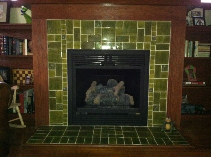 Tips How To Paint Fireplace Tile Green Fireplace Tile