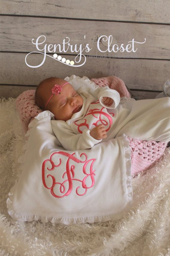 Monogrammed Baby Gown. 3 letter monogram on by GentrysCloset, $22.00