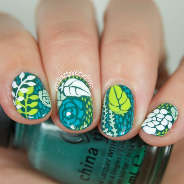 Succulent Inspired Nail Art (yes, nail art!)