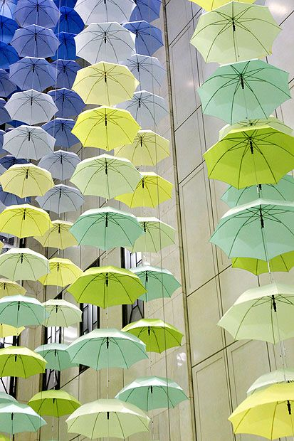 A wall of umbrella in a Tokyo shop
