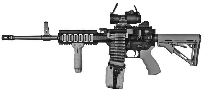 "Ares ""Shrike"" light machine gun / advanced weapon system (USA)"