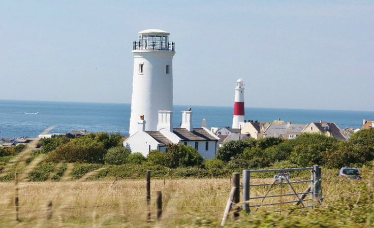 Two lighthouses...the old lower light house (the white one) is now a bird observatory