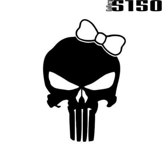 The Punisher Skull Girl Decal (Choose Color) #Gallery5150  #punisher #skull #decal #sticker #decals #stickers #girl #sexy #thepunisher #punisherdecal