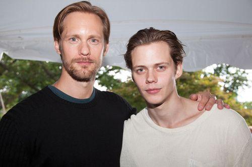 Alexander and Bill Skarsgard : I think I just died. Oh Roman....