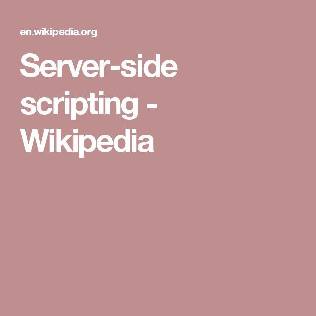 Server-side scripting - Wikipedia