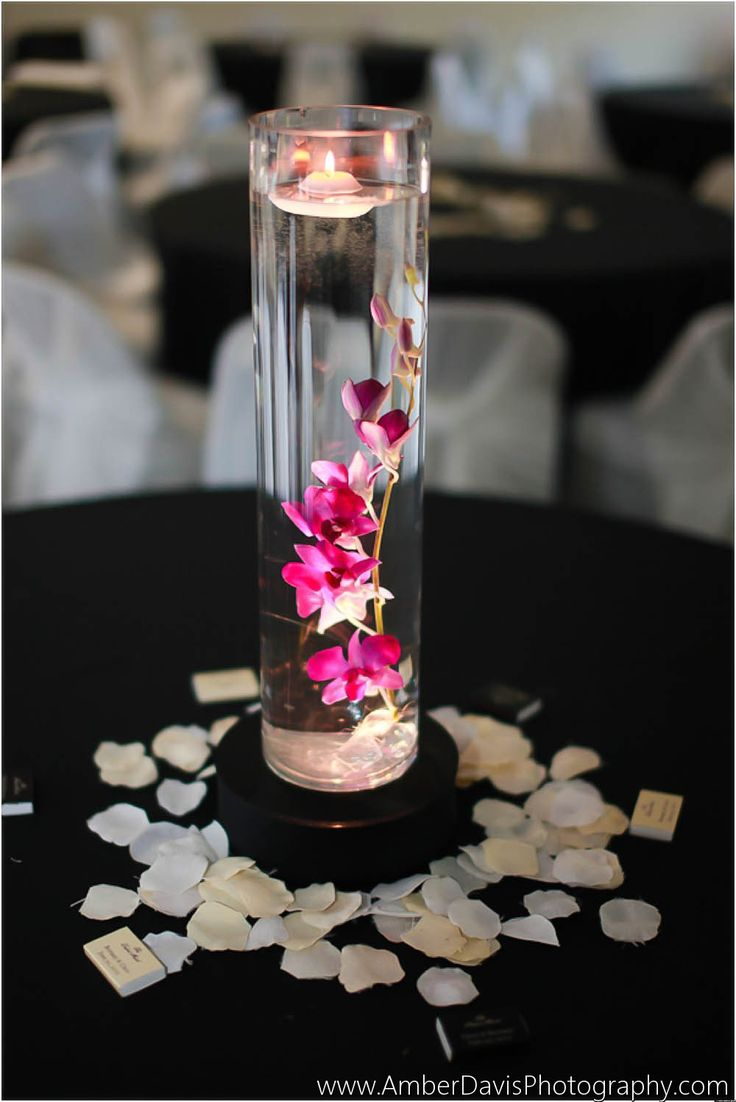 Floating orchid centerpiece, would be beautiful in the living room or dining room table
