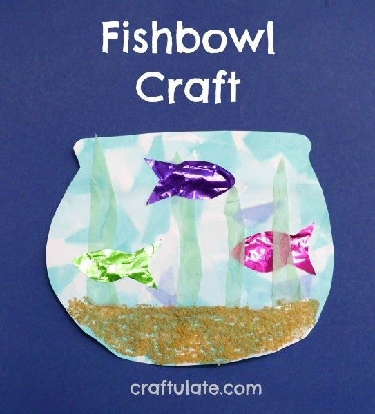 Fishbowl Craft for kids to make - a fun activity with a range of techniques and textures!
