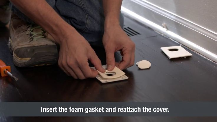 One of the more common locations for cold air leaks in around electrical coverings. Installing a foam gasket is an easy way to add insulation to your home. T...