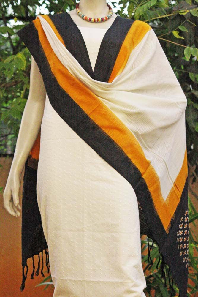 Designer Woven Ikkat Dupatta   India1001.com