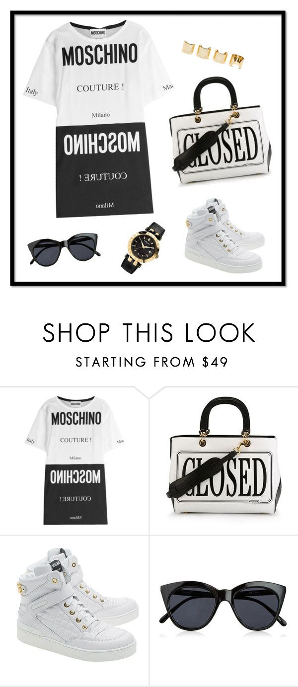 """blackology"" by pepito-sutrisno on Polyvore featuring Moschino, Le Specs, Versace and Luv Aj"
