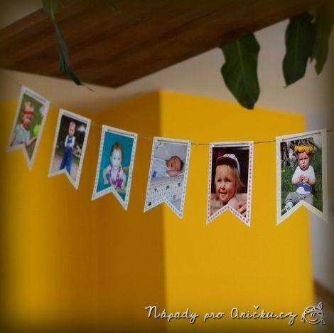 Narozeninová girlanda z fotek - Birthday garland from photos