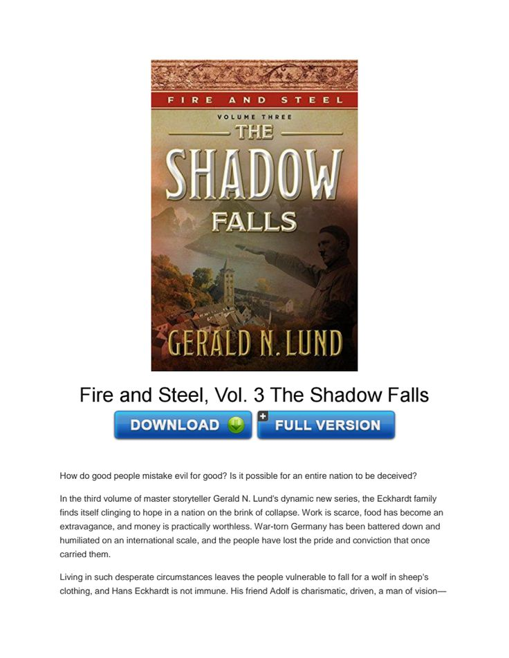 Download Fire and Steel, Vol. 3 The Shadow Falls PDF