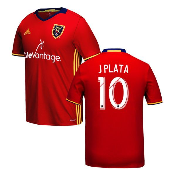 Joao Plata Real Salt Lake adidas Youth 2016 Replica Primary Jersey - Red - $94.99