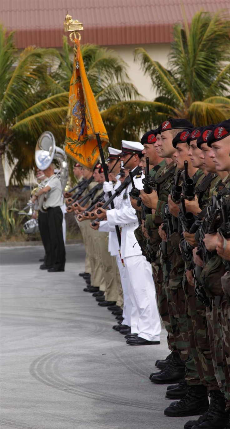 Dutch marines in Curacao