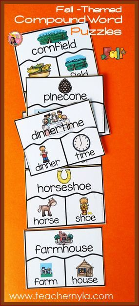 Fall themed Compound Word Puzzles $