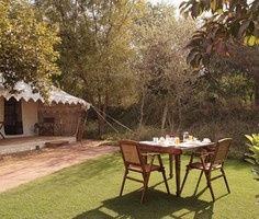 Sher Bagh, Ranthambore:   Journey to the nearby lake to see various species of migratory birds and acquire objects of extreme aesthetic value, steeped in antiquity, at the Boutique.