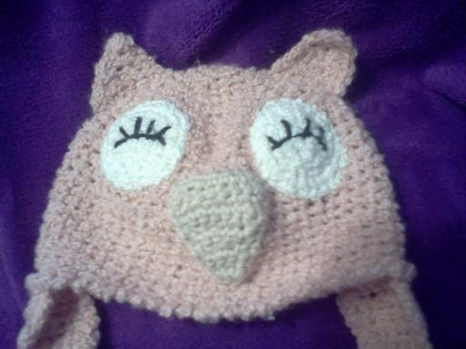 Owl Hat  size 3  6 Month by BabyAgapeBlessings on Etsy, $15.00