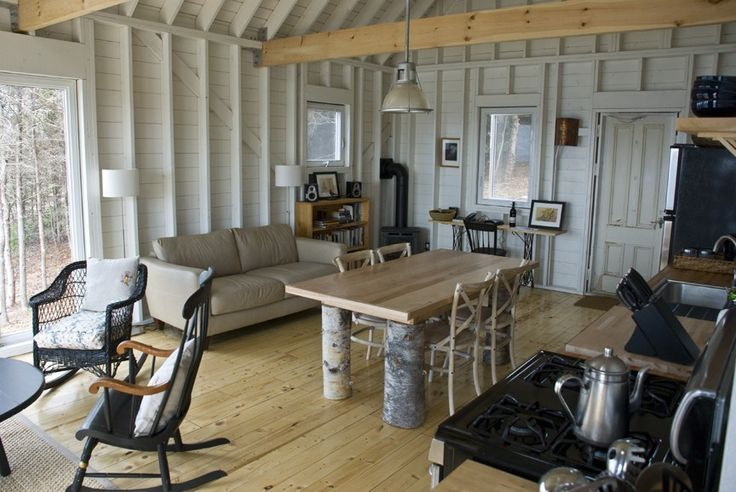 An owner-built Cape Breton cottage with traditional and contemporary details. It has 2 bedrooms in 768 sq ft. | www.facebook.com/SmallHouseB...