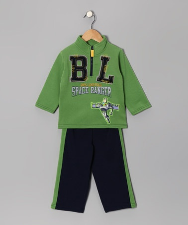 Take a look at this Green Buzz Lightyear Pullover & Track Pants - Toddler by Cartoon Classics: Boys' Apparel on #zulily today!