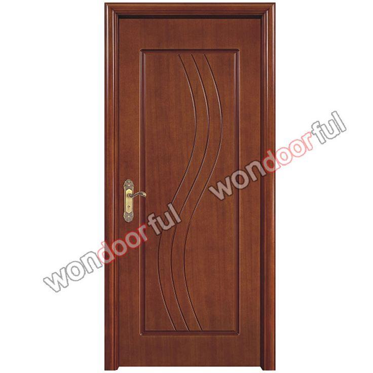 2015china latest design wooden single main door design ...
