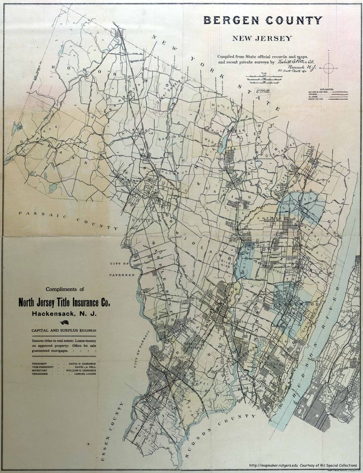 Bergen County 1909 19 best Maps maps
