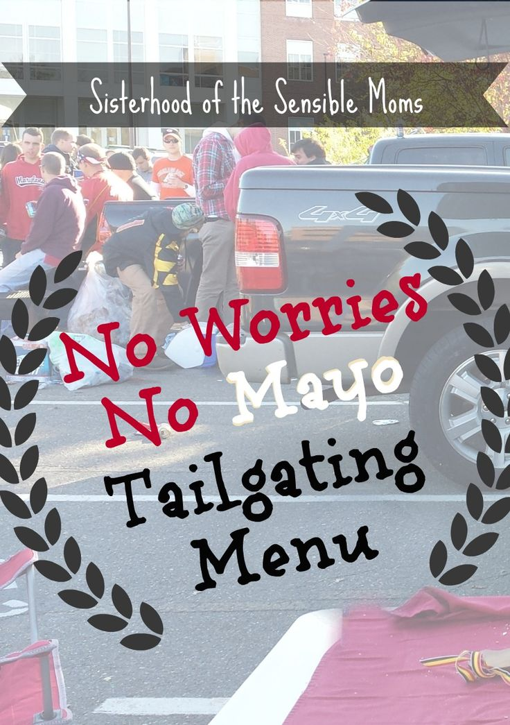 This delicious tailgating menu plan is perfect for picnics and parties too. Without a drip of mayo in the whole thing, it makes it easier to keep food safe.
