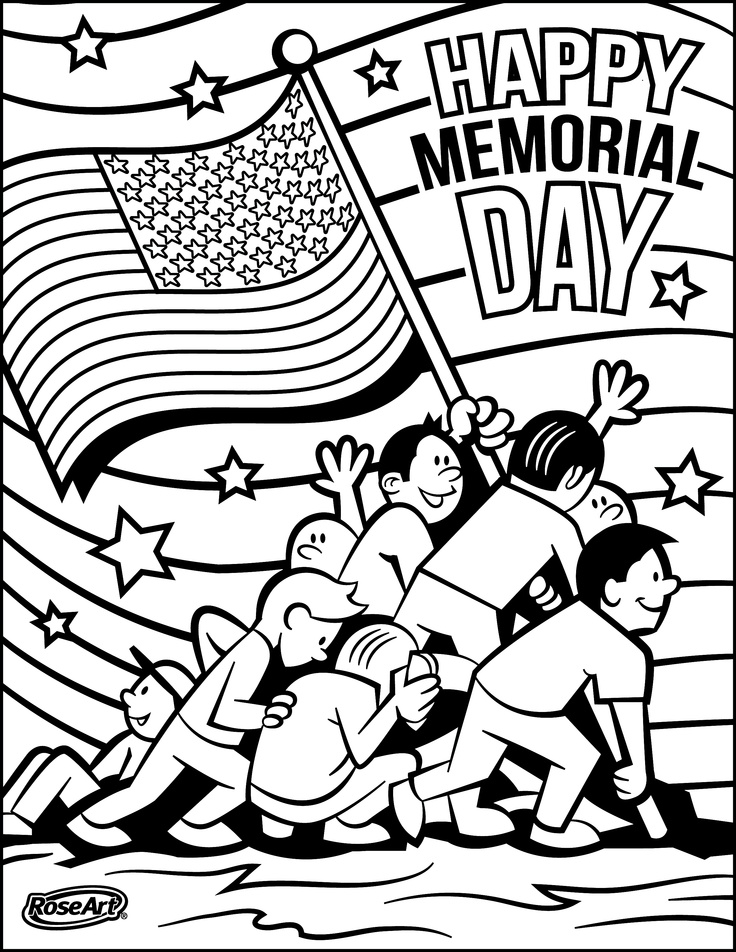 memorial day free color pages