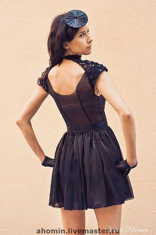 """Купить платье с кружевом""""Багира"""" - авторское платье, ручное кружево, платье из органзы, платье, платье коктейльное"""