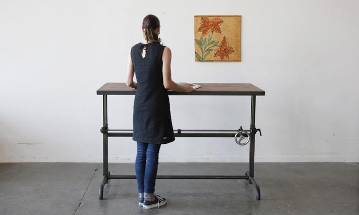 Adler Table | Ohio Design: Ohio Design, Adjustable Height, Stands Up Desks, Height Desks, Adjustable Desks, Stands Desks, Ohiodesign, Crafts Tables, Adler Tables