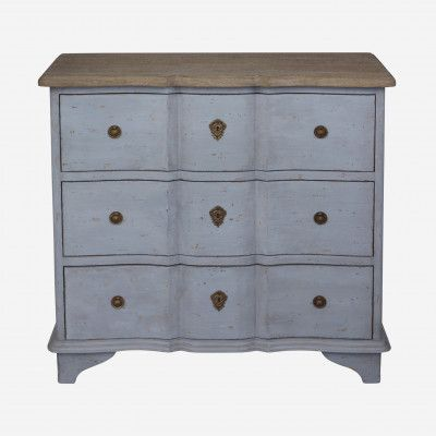 Redcurrent Dove Grey Duchesse Chest of 3 Drawers $795.00.