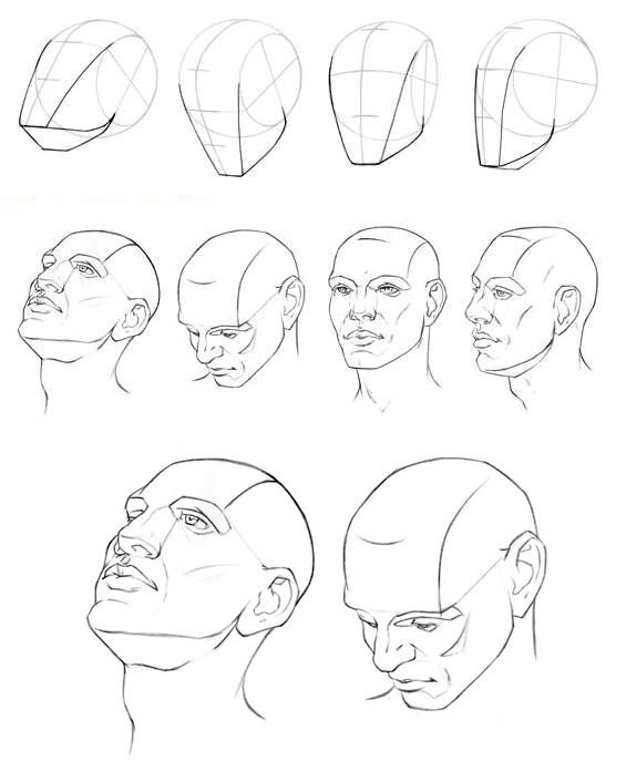 Tutorial de como se desenhar um rosto em diversas posições
