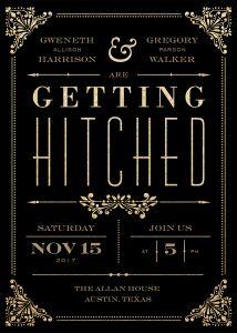 Gilded Union modern glitter wedding invitation