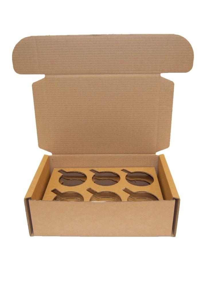 25 x mug shipping boxes fits six mugs mailers