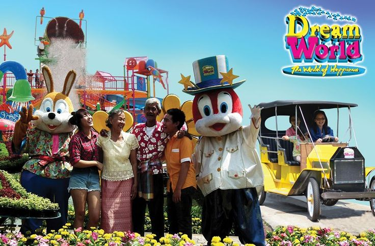 : The most fun an enjoy for a family happiness tour with kids - Dream World is a large scale amusement park within its beautifully decorated area,