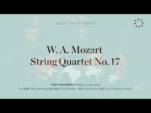 MOZART - String Quartet No. 17 - I: Allegro vivace assai - YouTube