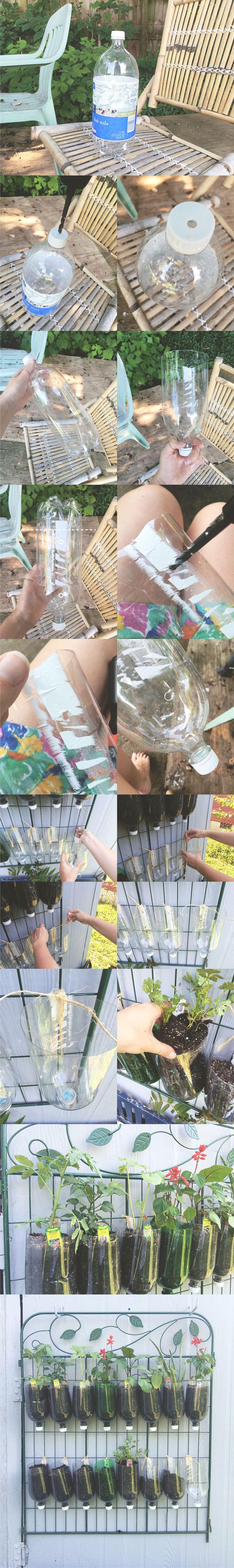 Peque o jard n vertical reciclando botellas de pl stico for Jardin vertical reciclado