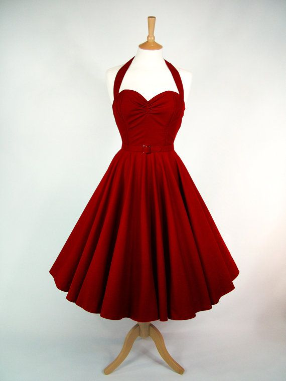 Full circle dress by Gin & Sin - made to measure. £115 #50s #1950s