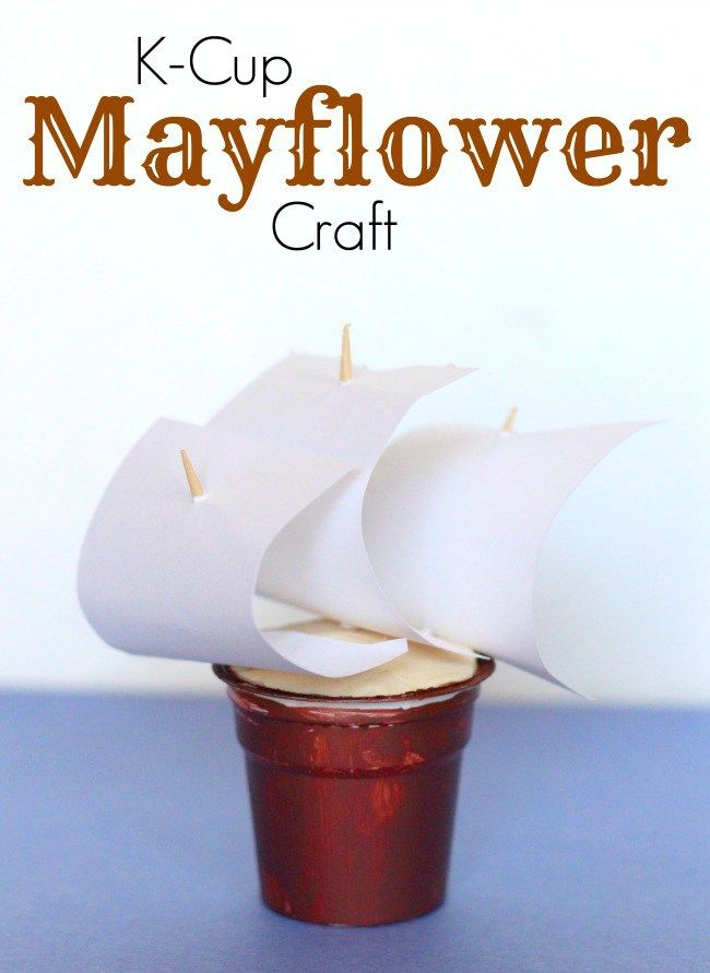 Mayflower craft for kids using k cups