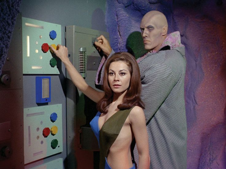 Sherry Jackson and Ted Cassidy