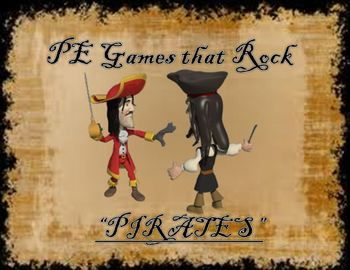 """This lesson plan and diagram is for a large group physical education class game called """"Pirates"""". It is a fast paced, high energy and extremely fun game for students of all ages."""