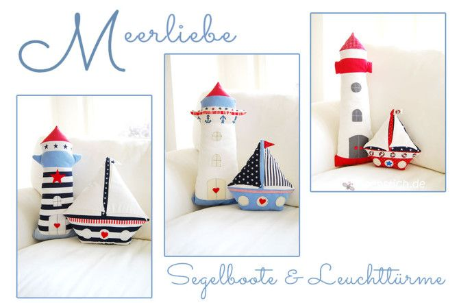 Segelboot und Leuchtturm nähen: Maritime Deko | binenstich.de