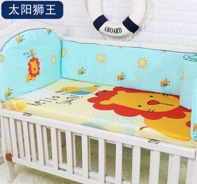 42.80$  Watch now - http://ali5hk.shopchina.info/1/go.php?t=32691928733 - Promotion! 5PCS Pink Baby Bedding Set Newborn Infant Cartoon Crib Bedding,include:(bumpers+sheet)  #SHOPPING