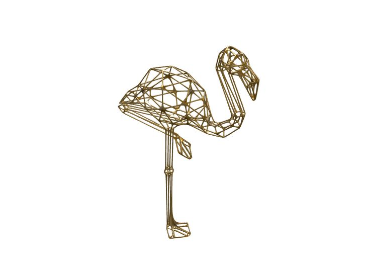 Lowpoly flamingo jewelry - a 3D model created with VECTARY - the free online 3D modeling tool #3Dprinting