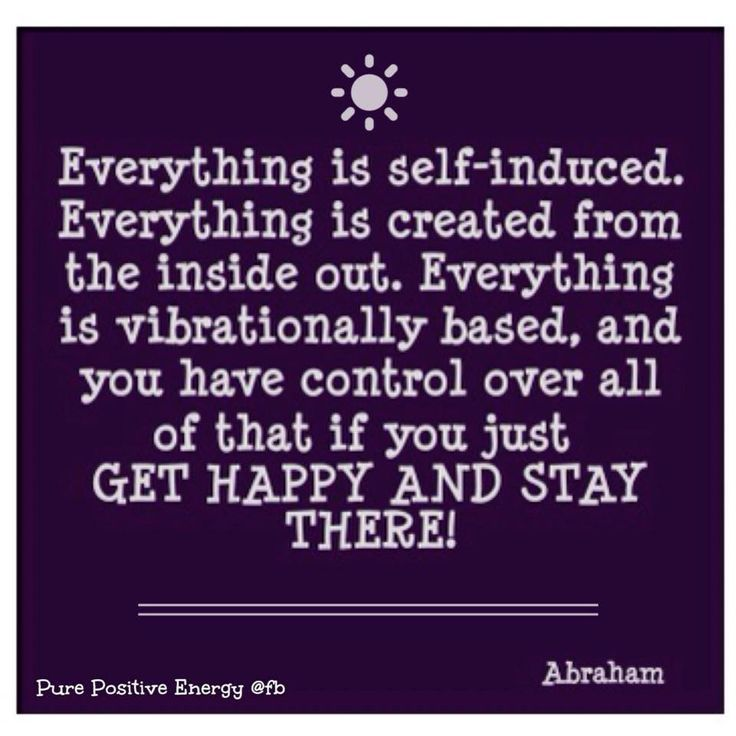 Everything is self-induced, everything is created from the inside out.........Everything is.........Abraham-Hicks Quote