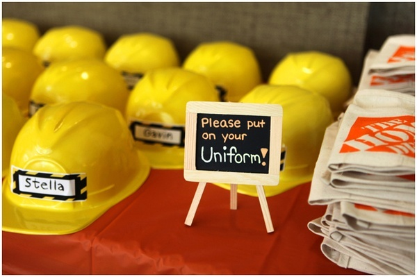 Construction Truck Theme Birthday Party