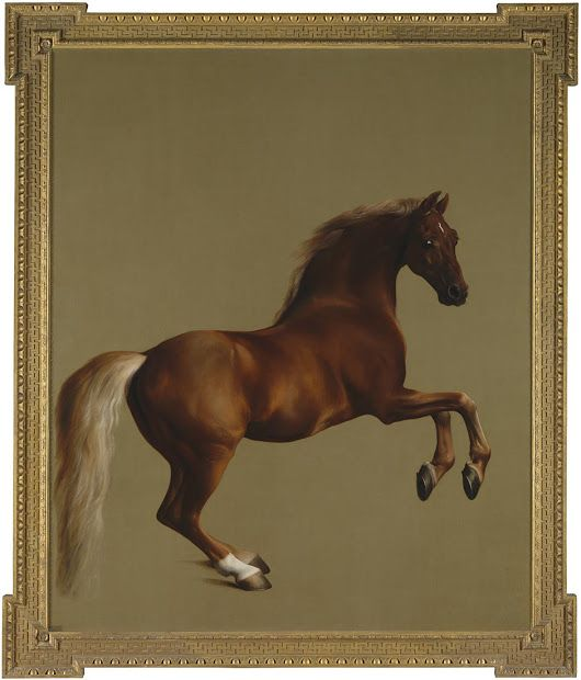 George Stubbs's 'Whistlejacket' was painted in about 1762 for the 2nd Marques...