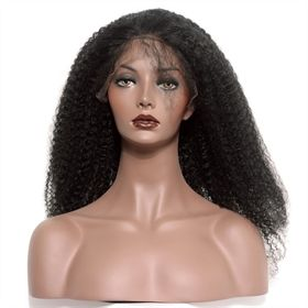 360 Circular Lace Wigs Afro Kinky Curly Brazilian Full Lace Human Hair Wigs Natural Hair Line 180% Density CMWG0015