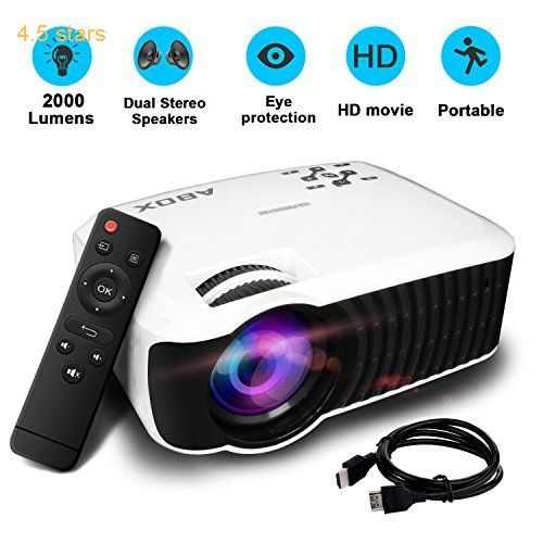 Projector/Projecteur2017 GooBang Doo ABOX T22 2000 Lumens Mini Portable ProjectorMultimedia 1080p HD Home Theater Video Projector Support HDMI USB SD Card VGA AV Input for PC Laptop/PS4/Xbox/Android TV Box etc